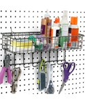 Pegboard Basket and Hook Station