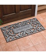 Aluminum Oak Leaf Personalized Doormat
