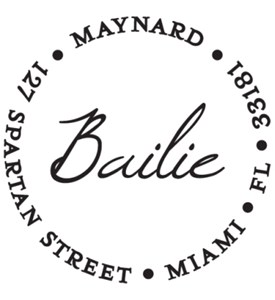 Personalized Address Stamp - Bailie Image