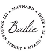 Personalized Address Stamp - Bailie