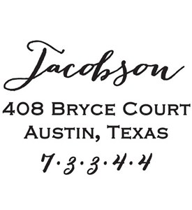 Personalized Address Stamp - Jacobson Image
