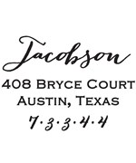 Personalized Address Stamp - Jacobson