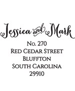 Personalized Address Stamp - Jessica