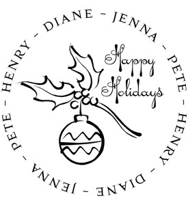 Personalized Address Stamp - Ornament Image