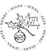 Personalized Address Stamp - Ornament