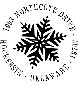Personalized Address Stamp - Snowflake Image