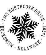 Personalized Address Stamp - Snowflake