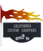 Personalized Motorcycle Storefront Sign