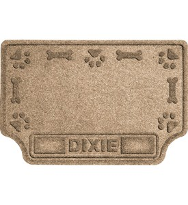Personalized Pet Mat - Paws and Bones Image