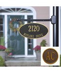 Custom Two-Sided Hanging Oval Address Plaque