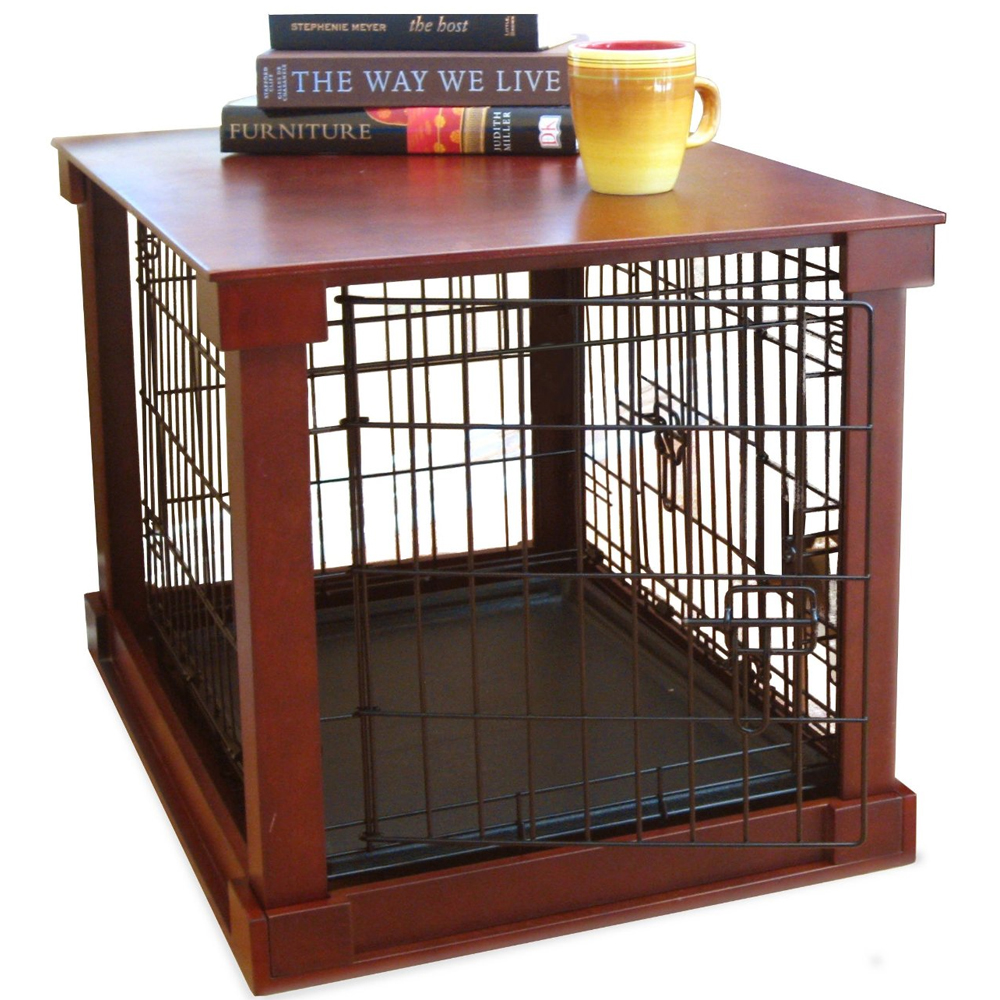 pet crate end table in pet pens