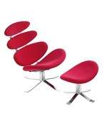 Petal Lounge Chair and Ottoman by Zuo Modern