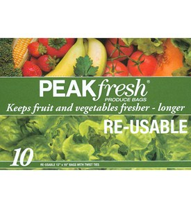 Peak Fresh Reusable Produce Bags (Set of 10) Image