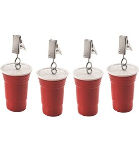 Picnic Tablecloth Weights - Red Party Cups (Set of 4) Image
