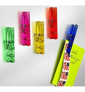 Colorful Neo Magnet Clothespin Clips (Set of 5) Image