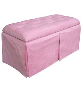 Pink Storage Bench and Ottomans Image
