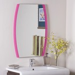Pink Wall Mirror vanity mirrors | framed and oval bathroom mirrors