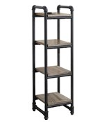 Pipe-Style 4 Shelf Tower