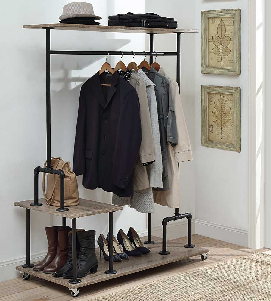 Pipe Style Wardrobe Rack In Clothing Racks And Wardrobes