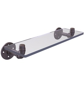 Pipeline 16 Inch Wall Mount Glass Shelf Image