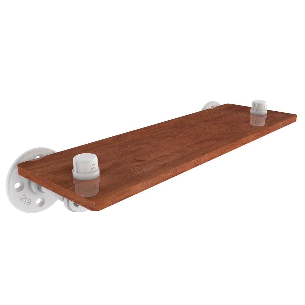 Wall Mounted Wood Shelves ~ Pipeline inch wall mount wood shelf in mounted shelves