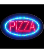 Pizza Colored LED Sign