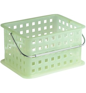 Stackable Plastic Storage Baskets - Small Image