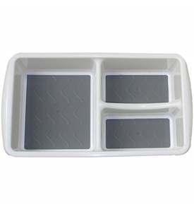 Plastic Bin Organizer - Three Compartments Image
