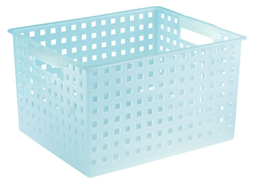 Plastic Decorative Storage Basket Water Blue In Plastic