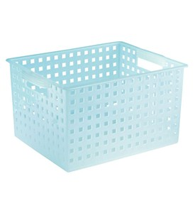 Plastic Decorative Storage Basket - Water Blue Image