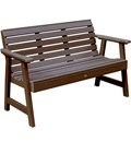 Wood outdoor lamp post - Synthetic Wood Outdoor Bench