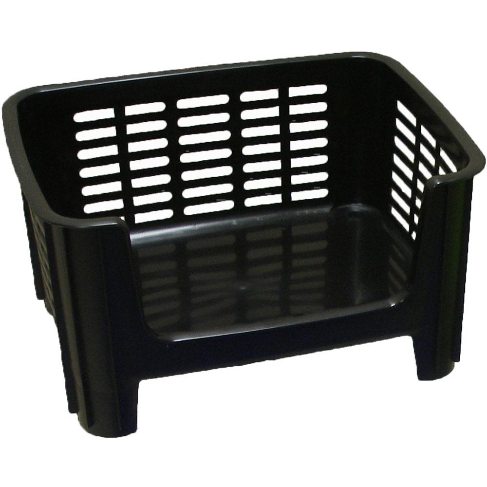 Stackable Storage Bin Black In Plastic Storage Bins
