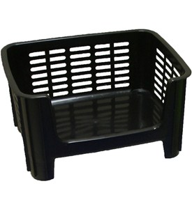Stackable Storage Bin - Black Image