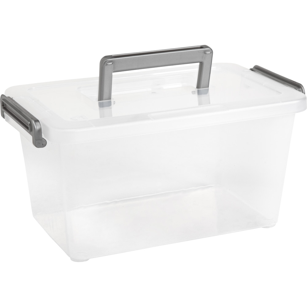 Plastic Storage Bin with Handle in Home Storage Containers