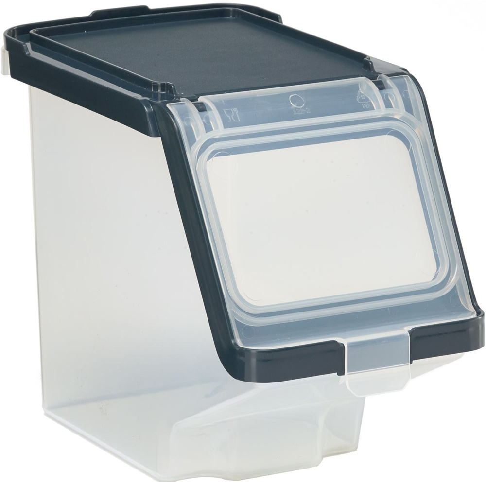 iris stacking bins plastic storage bin with lid