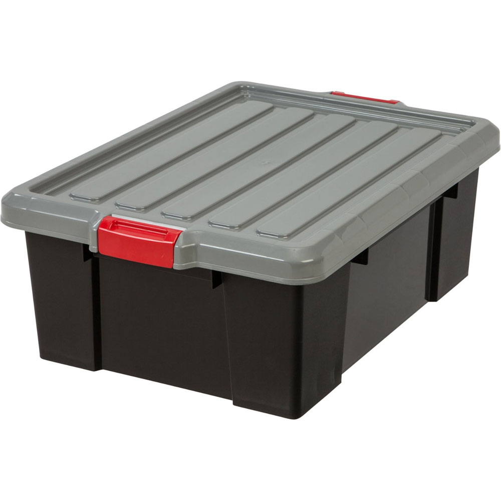 plastic storage box black