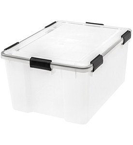 Plastic Storage Box with Lid - 63 Quart Image