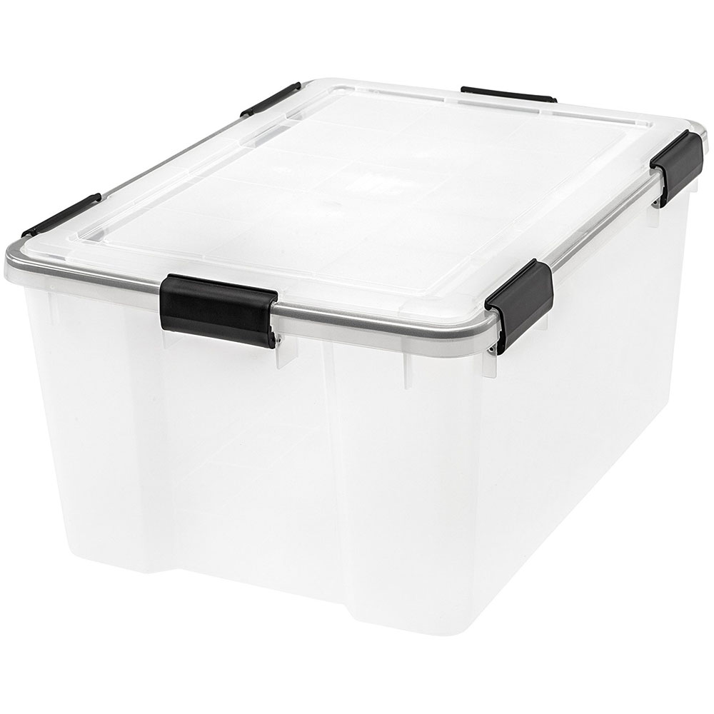 Charming Plastic Storage Container With Lid   41.2 Quart, Plastic Storage Box With  Lid   63 Quart ...