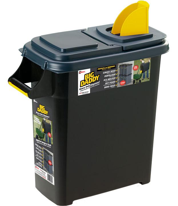 plastic storage container and dispenser