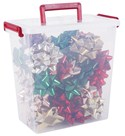 Plastic Storage Container - Christmas Bows