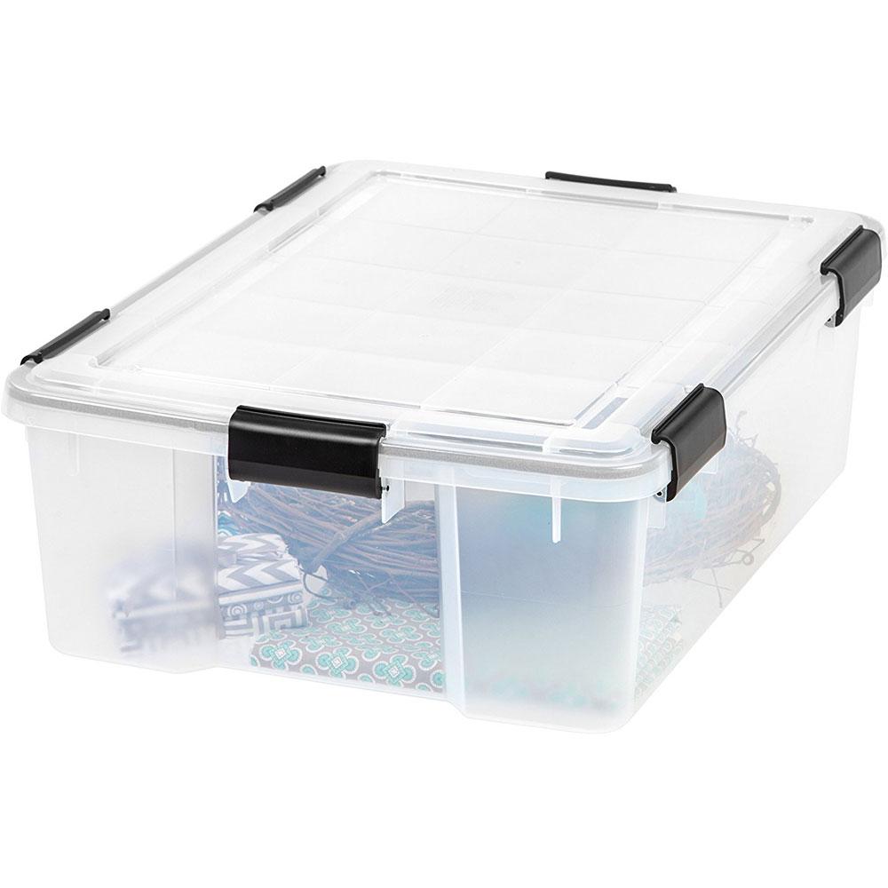 Plastic Storage Container With Lid 41 2 Quart In Plastic