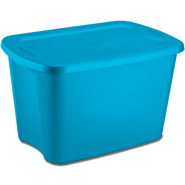 plastic storage tote in plastic storage boxes