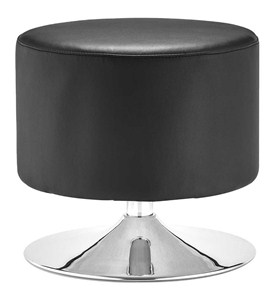 Plump Modern Faux Leather Ottoman Image