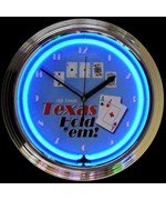 Poker Texas Hold 'Em Neon Clock by Neonetics