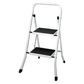 Two Step Folding Step Ladder White In Step Stools