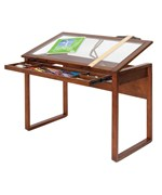 Ponderosa Glass Top Work Table by Studio Designs