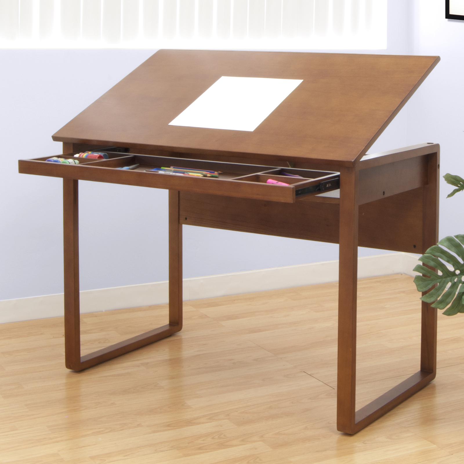 Wooden Studio Furniture ~ Ponderosa wooden drafting table by studio designs in kids