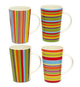 Porcelain Coffee Mugs - Lollypop (Set of 4) Image