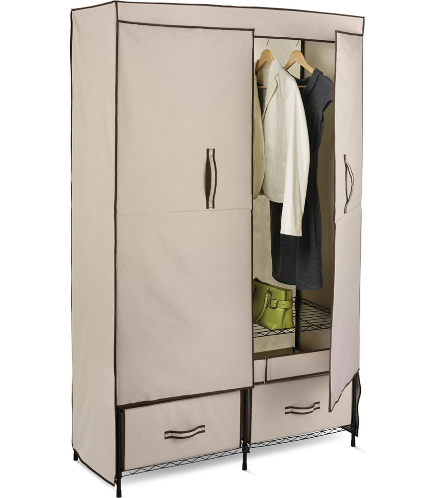 Portable storage closet in clothing racks and wardrobes for Extra closet storage