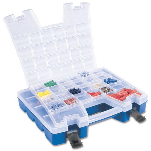 Portable Craft Storage : Portable lid storage divided organizer in plastic